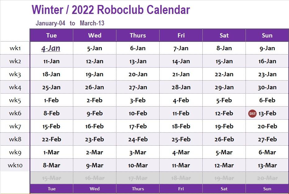 Njit Fall 2022 Calendar.Excellent Robotics Club Computer Programming Programs List